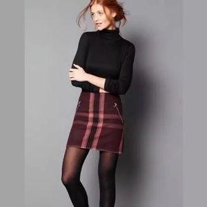 GAP Wool Blend Plaid Mini Skirt Size 2